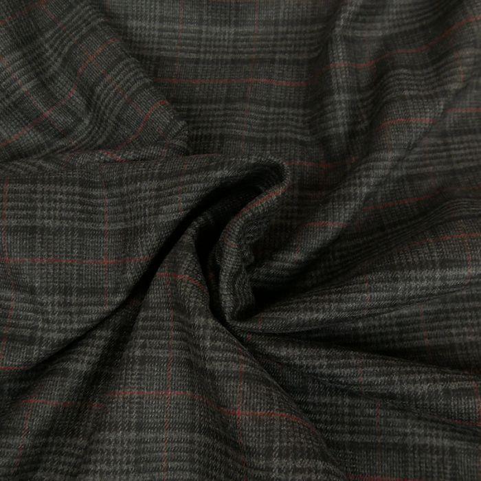 Tissu Prince de galles - gris foncé x 10 cm