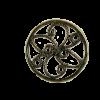 Pendentif rond 15mm bronze