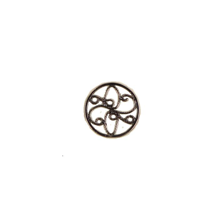 Pendentif rond 15mm cuivre