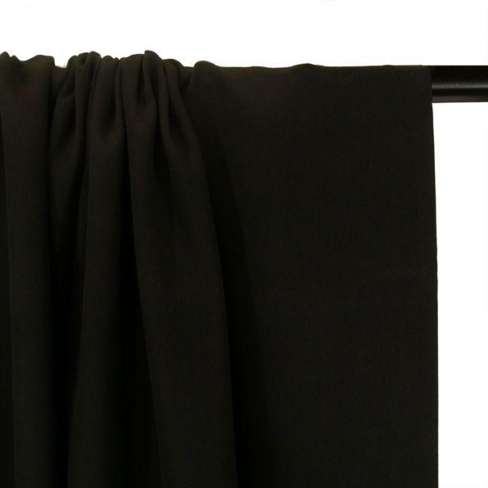 Tissu crêpe de chine - noir x 10 cm