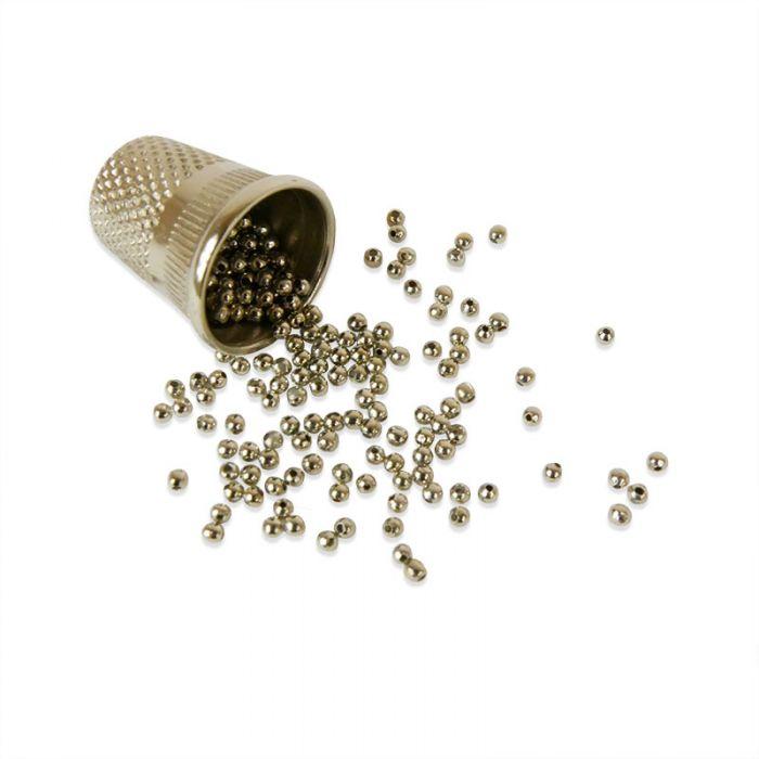 Perle en métal unie 2 mm x 1g