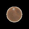 Pendentif rond 10mm cuivre