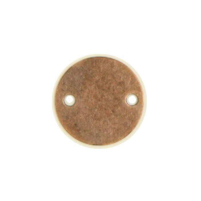 Pendentif rond 2 trous 10mm cuivre