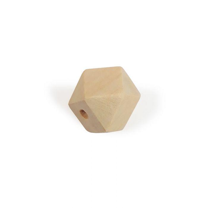Perle en bois naturel -  géométrique