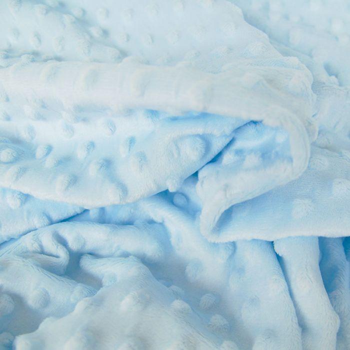 Tissu minky pois oeko-tex - ciel x 10 cm