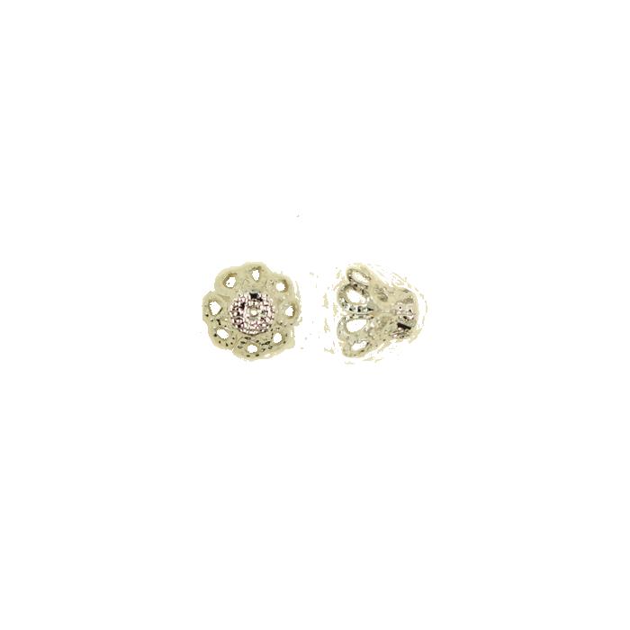 Pendentif calotte 8mm argent x1