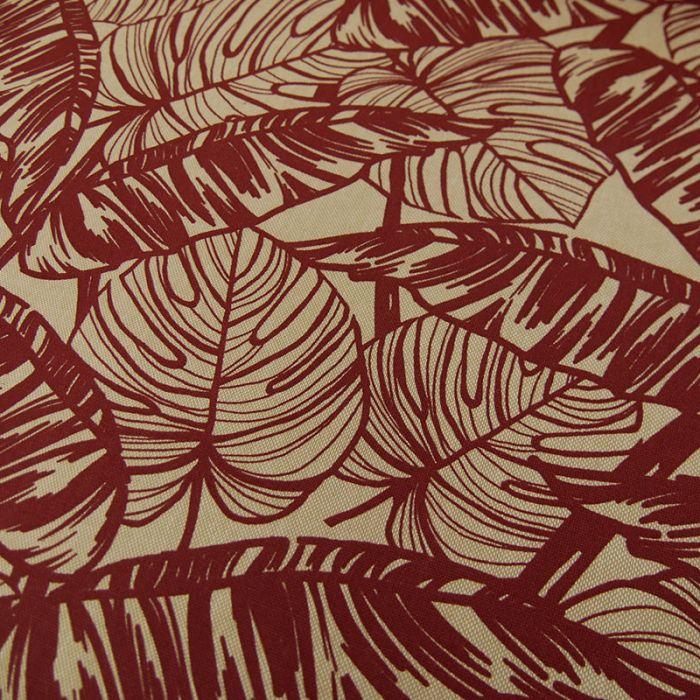 Tissu coton oeko-tex feuillages - rouille x 10 cm