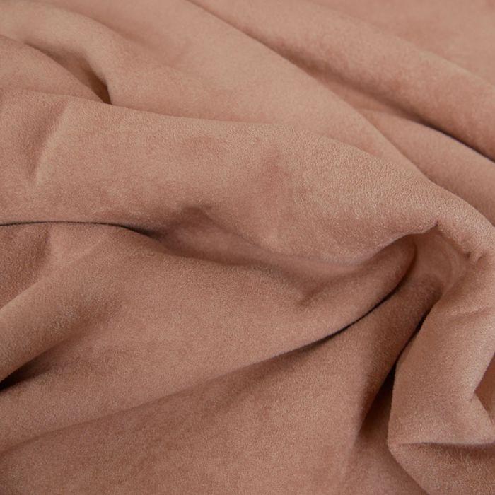 Tissu suédine envers fourrure mouton - vieux rose x 10 cm