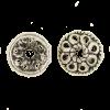 Pendentif calotte 4mm argent