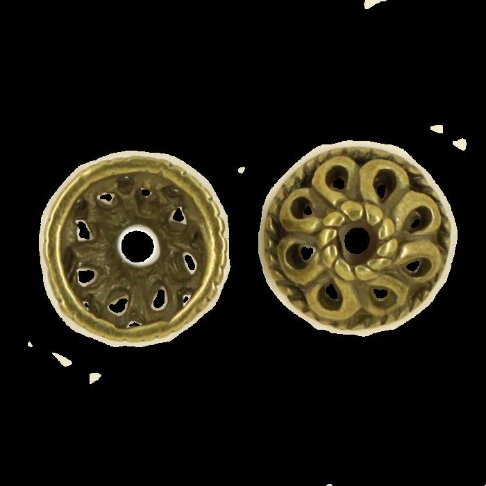 Pendentif calotte 4mm bronze x1