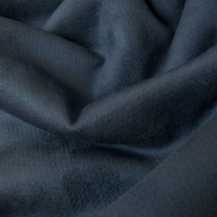 Tissu suédine envers fourrure mouton - encre x 10 cm