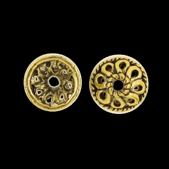 Pendentif calotte 4mm doré ancien x1