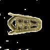 Pendentif calotte 16mm bronze