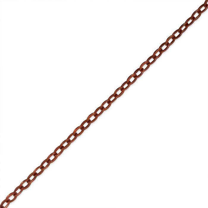 Chaîne maille forçat 2*2,4 mm x 10 cm