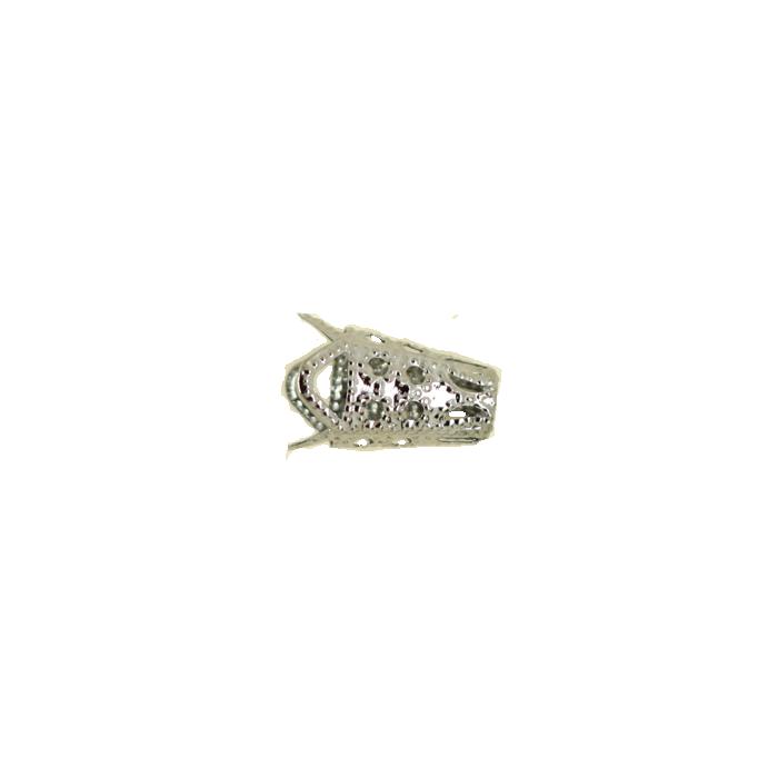 Pendentif calotte 16mm argent noirci x1