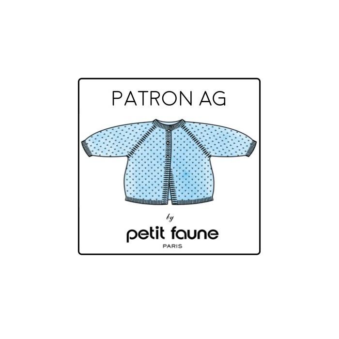 Cardigan AG - Patron tricot Petit Faune