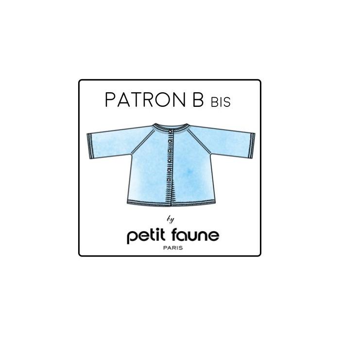Kit Petit Faune Patron B bis : cardigan raglan