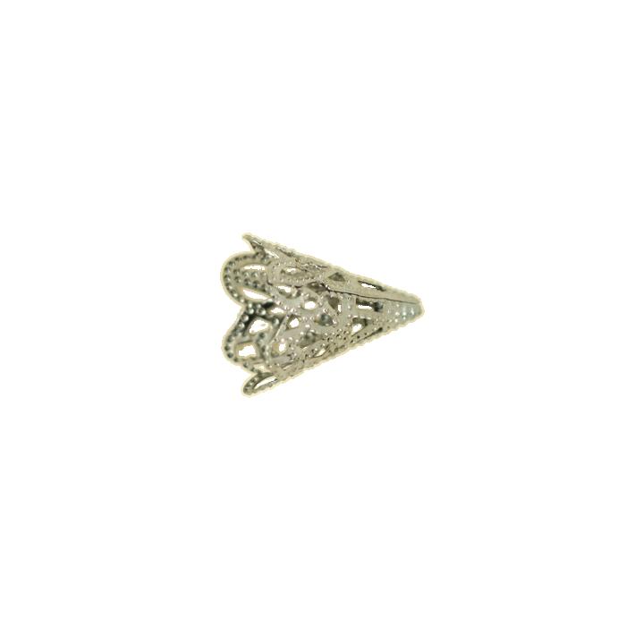 Pendentif calotte 20mm argent noirci x1