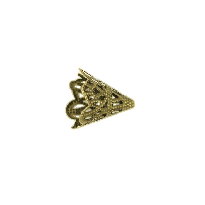 Pendentif calotte 20mm bronze x1