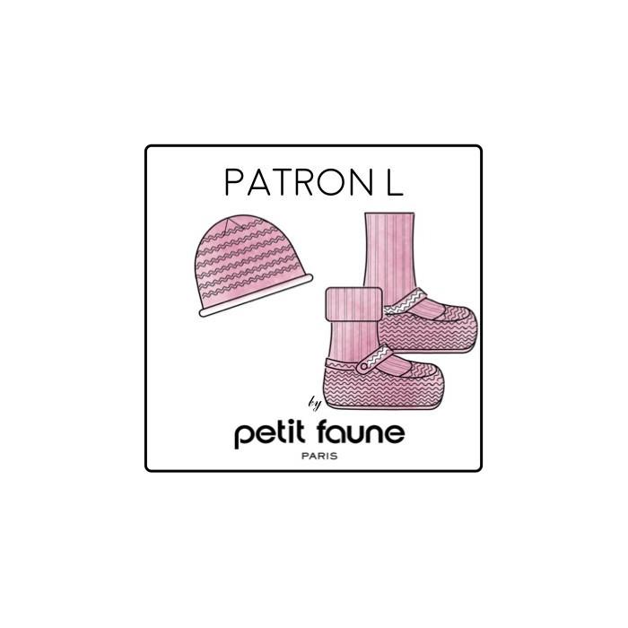 Chaussons et bonnet L : patron tricot Petit Faune