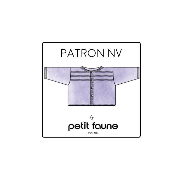 Cardigan NV : patron tricot Petit Faune