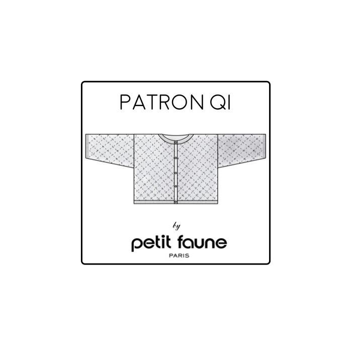 Cardigan daisy QI : patron tricot Petit Faune