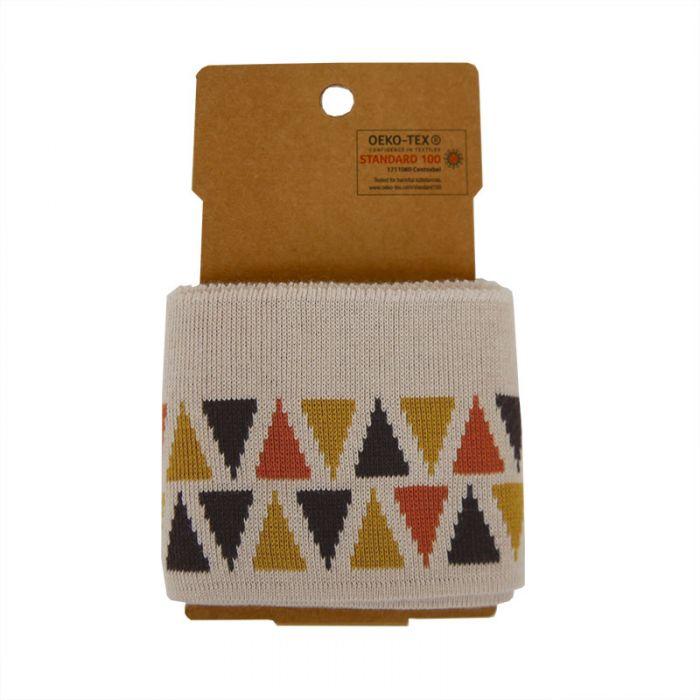 Bord-côte Oeko-tex jacquard triangles - beige