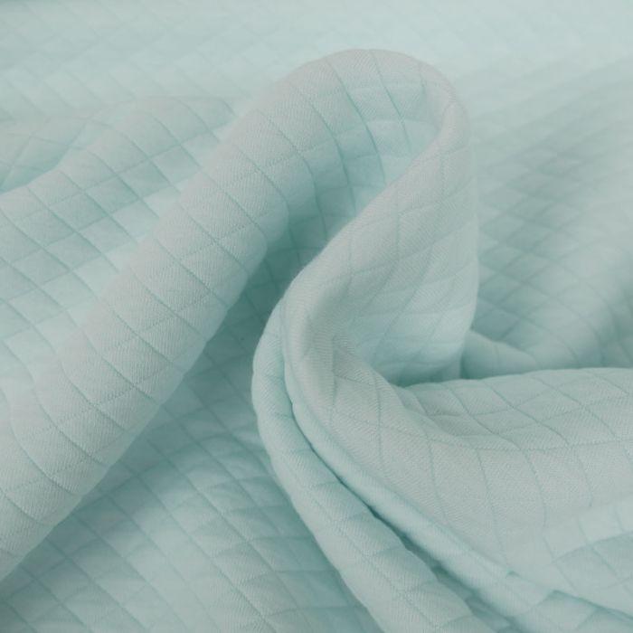 Jersey matelassé - Mint x 10 cm
