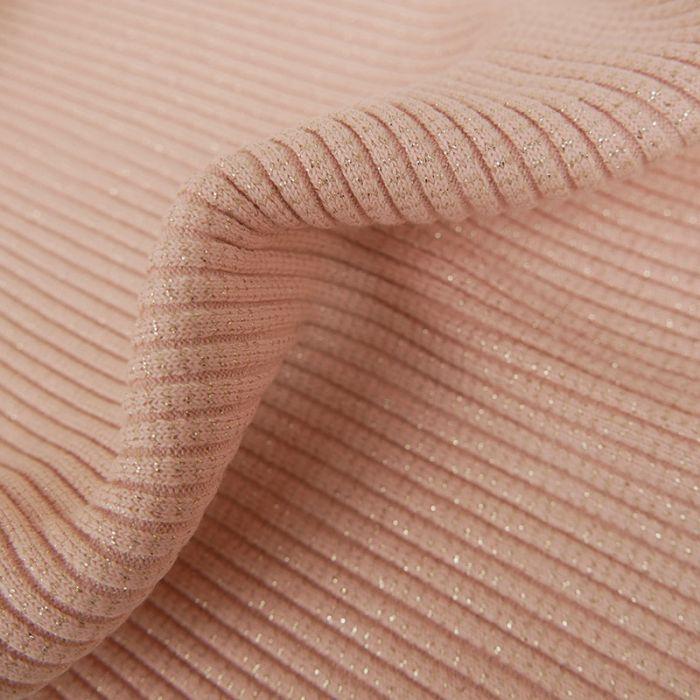 Bord-côte tubulaire lurex épais x 10 cm