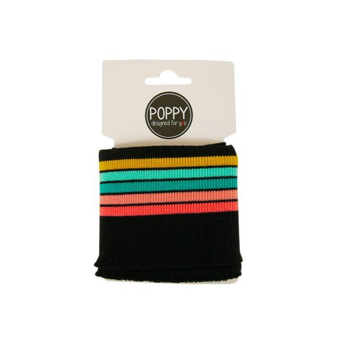 Bord-côte Oeko-tex rayures - Poppy