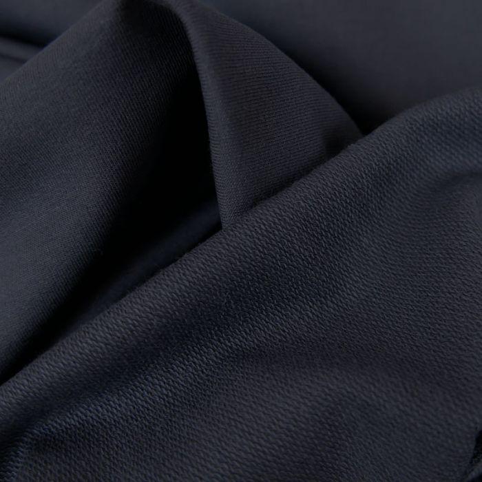 Tissu jersey sweat léger uni - marine  x 10 cm