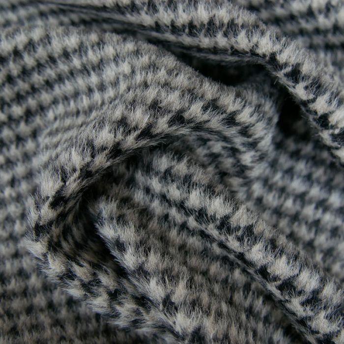 Tissu laine et Alpaga pied de poule x 10 cm