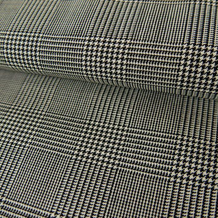 Tissu lainage fin prince de galles x 10 cm