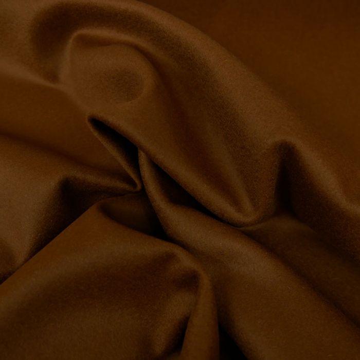 Tissu drap laine cachemire - caramel x 10 cm