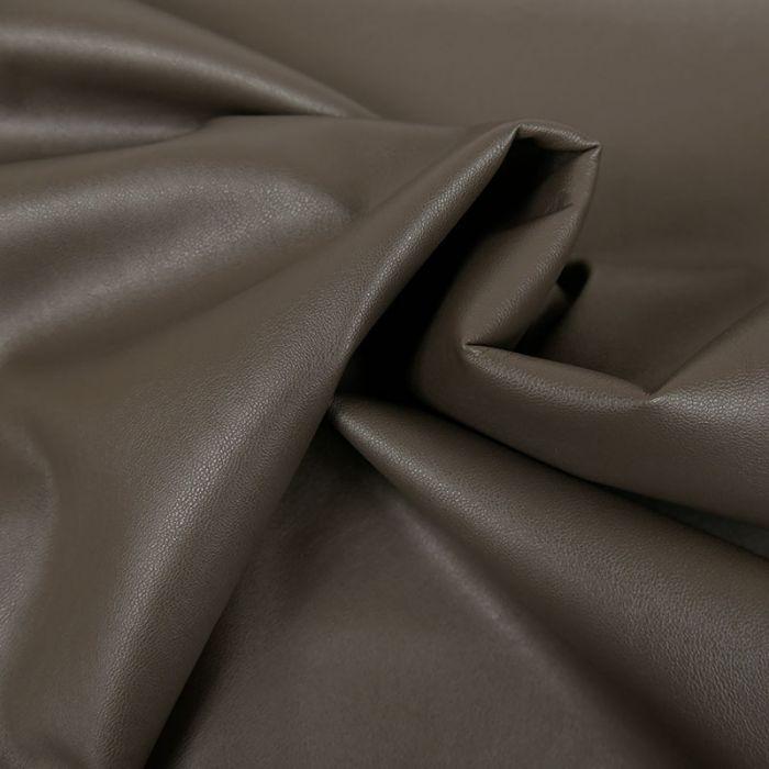 Tissu simili cuir souple - marron x 10 cm