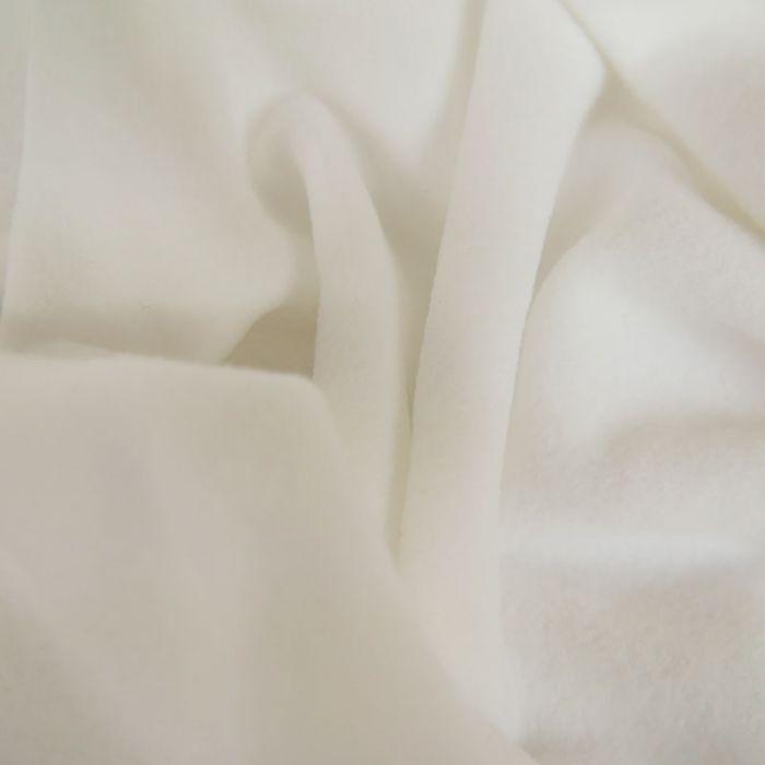 Tissu microfibre Oeko-tex - blanc x 10 cm