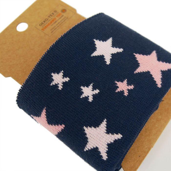 Bord-côte Oeko-tex étoiles - bleu