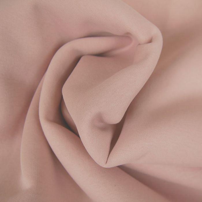 Tissu molleton sweat - rose clair x 10 cm