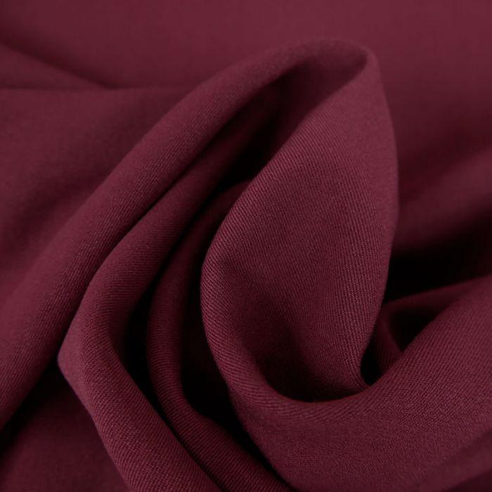 Tissu twill polyviscose stretch - bordeaux x 10 cm