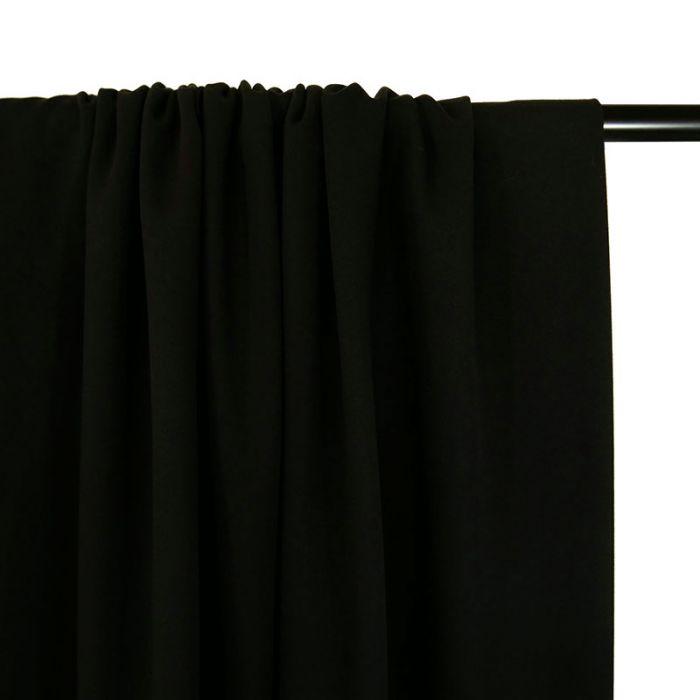 Tissu viscose stretch - noir x 10 cm