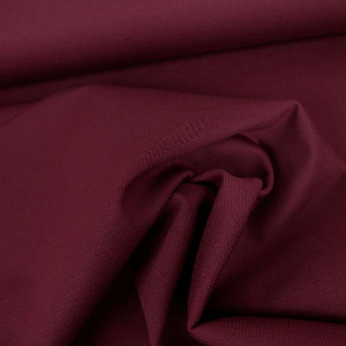 Tissu jersey punto lourd viscose - bordeaux x 10 cm