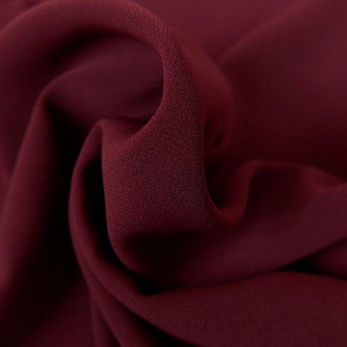 Tissu crêpe légère stretch - bordeaux x 10 cm