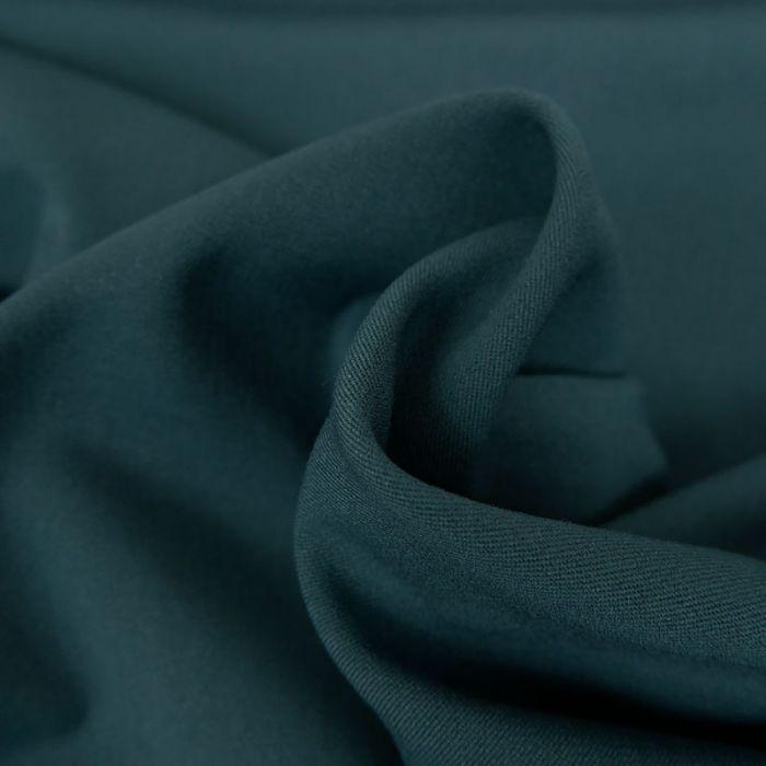 Tissu twill polyviscose stretch - petrole foncé  x 10 cm
