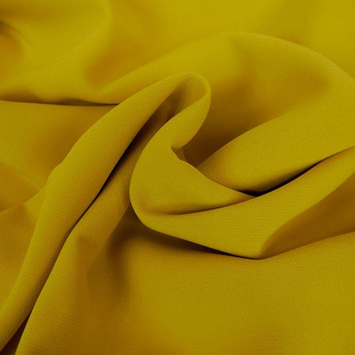 Tissu crêpe légère stretch - jaune x 10 cm