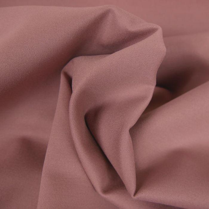 Tissu jersey punto lourd viscose - vieux rose x 10 cm
