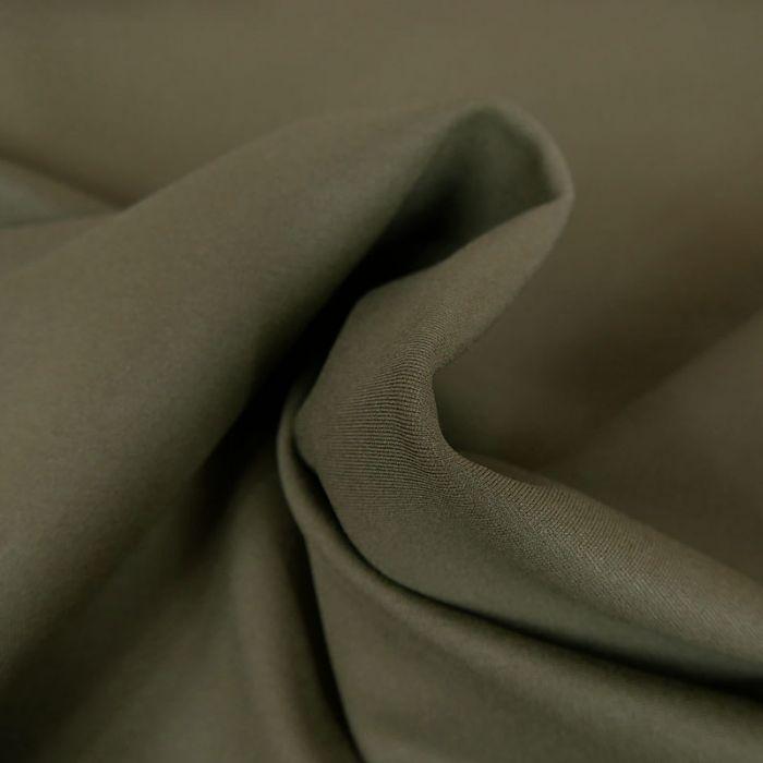 Tissu jersey punto lourd viscose - vert kaki x 10 cm