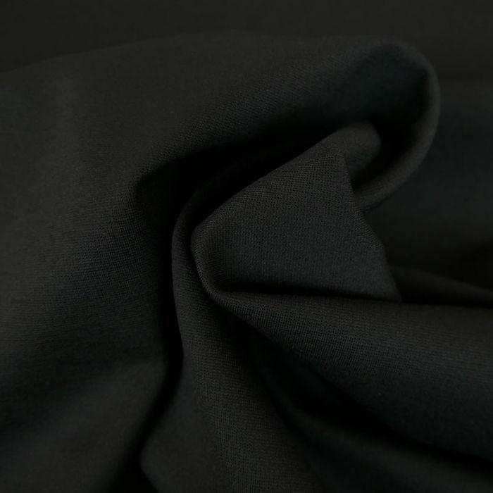 Tissu jersey punto lourd viscose - noir x 10 cm