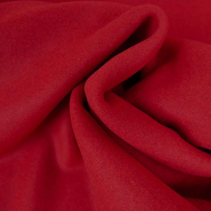Tissu lainage caban - rouge x 10 cm