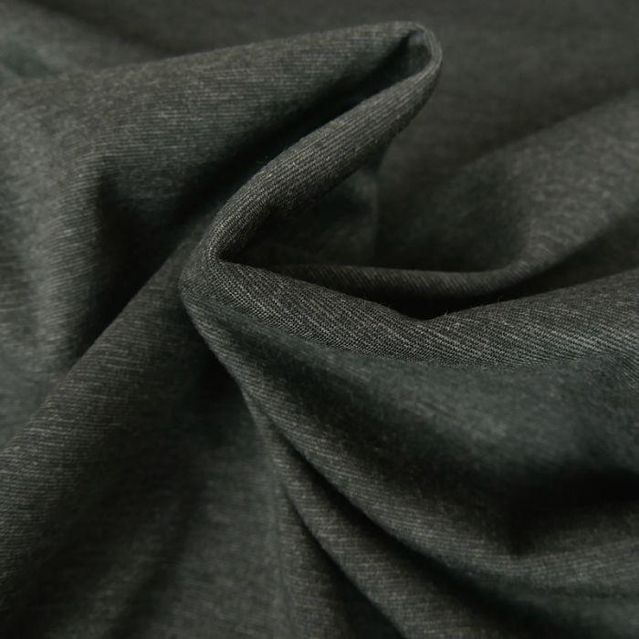 Tissu jersey punto stretch - gris foncé chiné x 10 cm