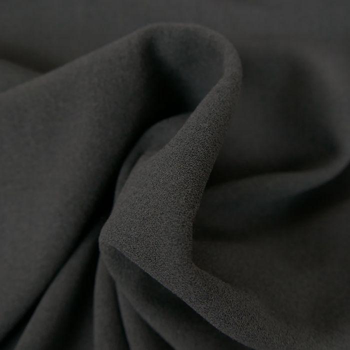 Tissu crêpe stretch - gris foncé x 10 cm